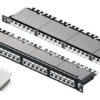 Paneles de parcheo apantallado Categoría 6 A / Clase EA de 24 puertos