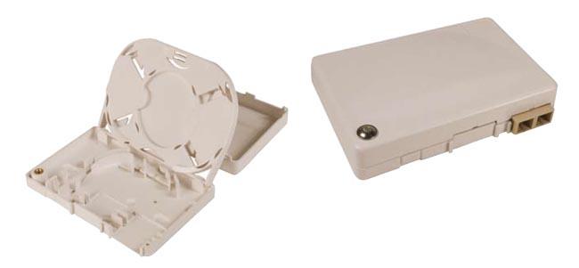 Caja roseta para fibra óptica