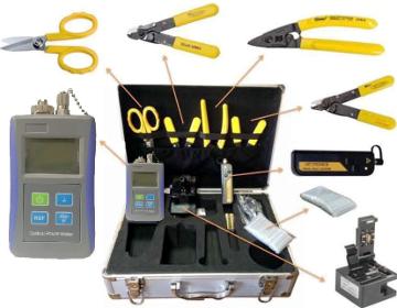 Maletín con herramientas para despliegues FTTH