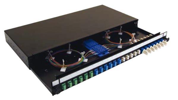 Panel extraíble de 1U con 24 puertos SC, LC o EC2000
