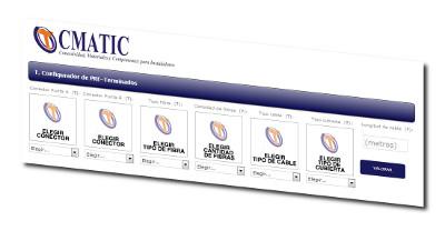 Nuevo configurador de latiguillos de fibra óptica en la web de CMATIC