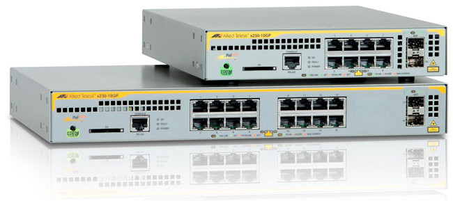 Switches Gigabit Ethernet PoE+ para redes distribuidas