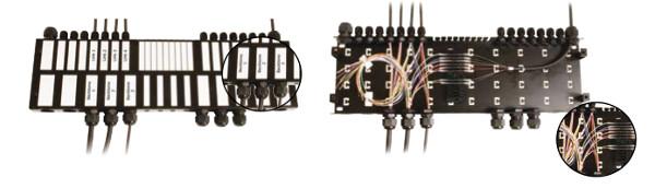 Cajas para cables protegidos