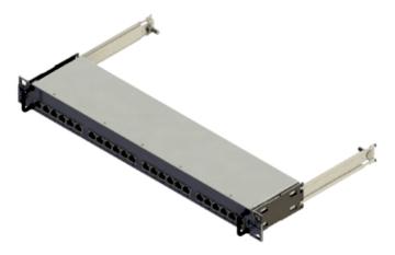 Panel de parcheo deslizante de 24 puertos con formato 1U