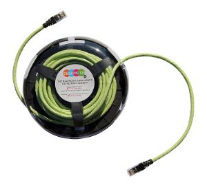 Cables RJ45 de cinco metros con guarda-cable para hogares y oficinas