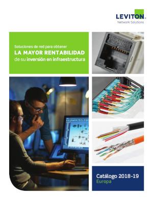 Nuevo catálogo de soluciones en fibra óptica y cobre