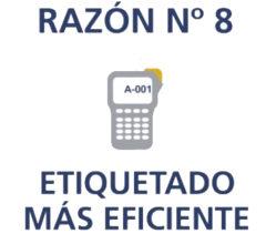 Razón 8 etiquete los resultados con eficiencia