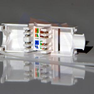 Módulo Hembra UTP Cat6a Blanco