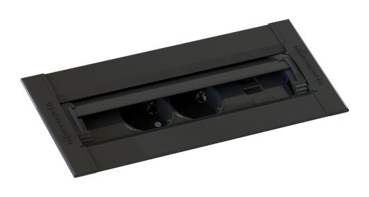 Cajas de conexiones con tapa deslizante para encastrar en mobiliario