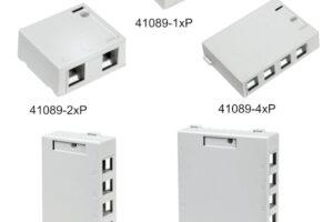 Cajas de montaje superficial para conectores QuickPort
