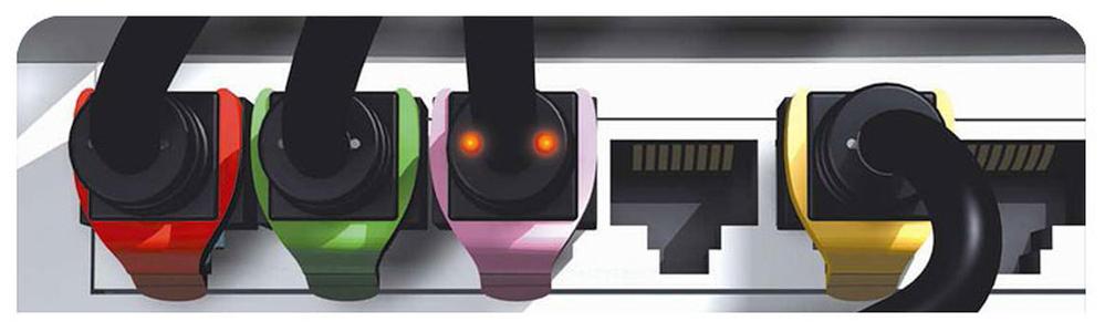 Clips de colores para la identificación de latiguillos RJ45